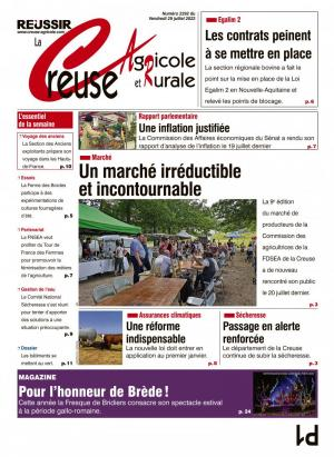 La couverture du journal La Creuse Agricole n°2231 | avril 2019